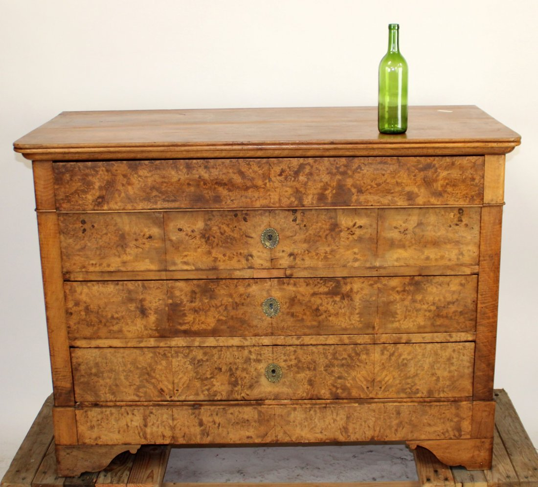French Louis Philippe commode in burl walnut