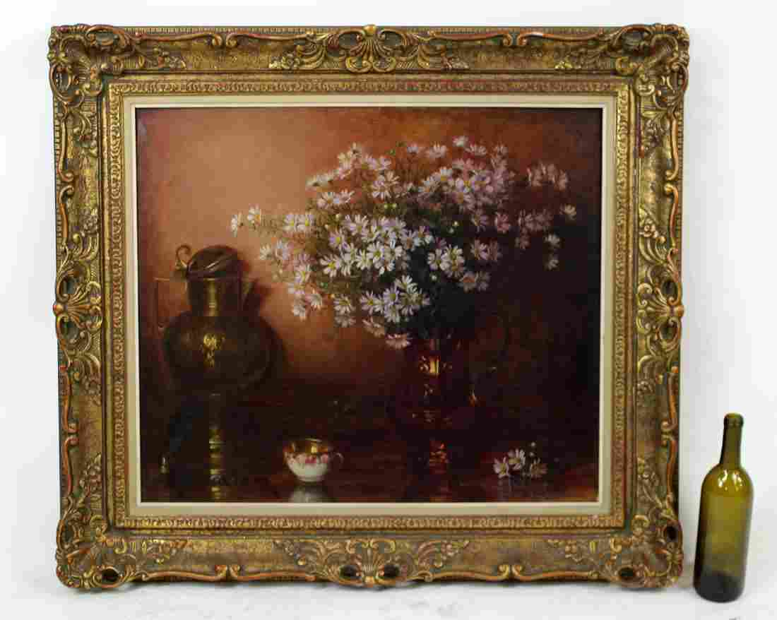 Flemish Oil on canvas Floral still life