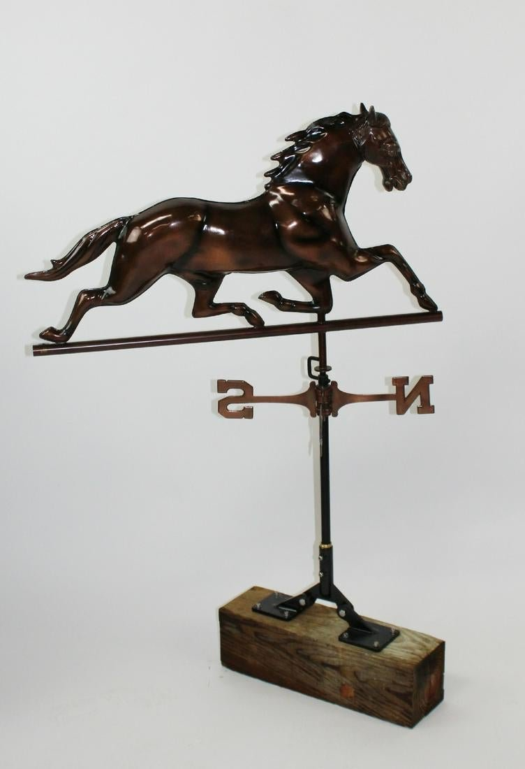 Copper horse form weather vane