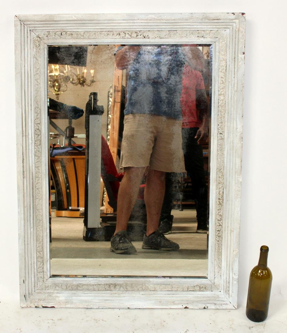 Carved painted framed mirror