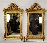 Pair of Neoclassical style gilt mirrors