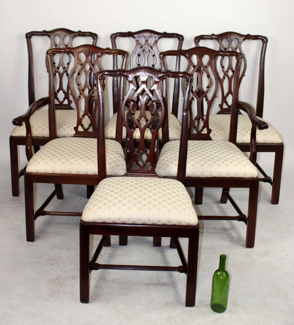 Set of 6 Mahogany Chippendale chairs