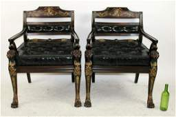 Pair of Theodore Alexander armchairs