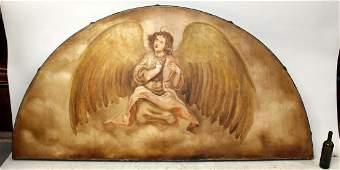 "Alberto Padilla painting ""Angel Guardian"""