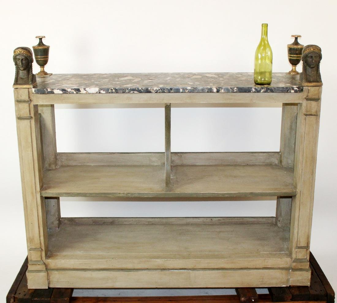 French Empire style server with marble top