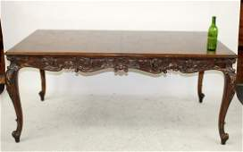French Louis XV dining table in walnut