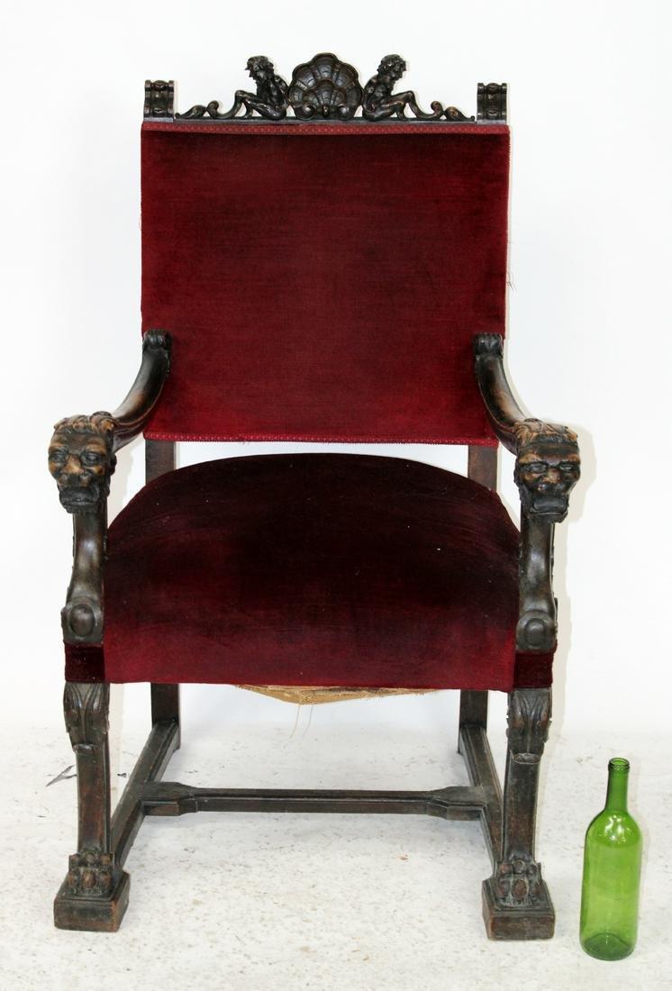 Italian Renaissance carved armchair
