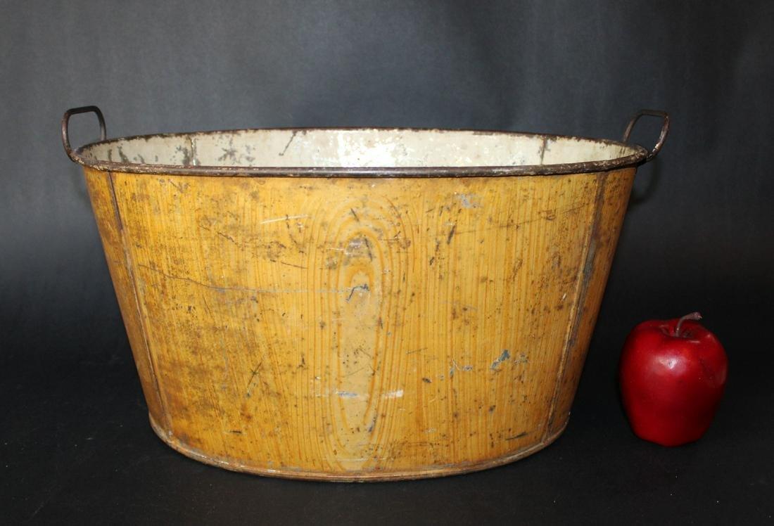 Vintage metal painted tub