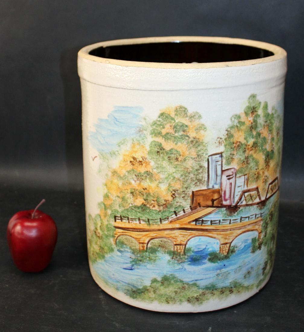American Alpine Pottery Roseville 4 gal crock
