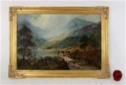 John Falconer Slater oil on canvas landscape painting