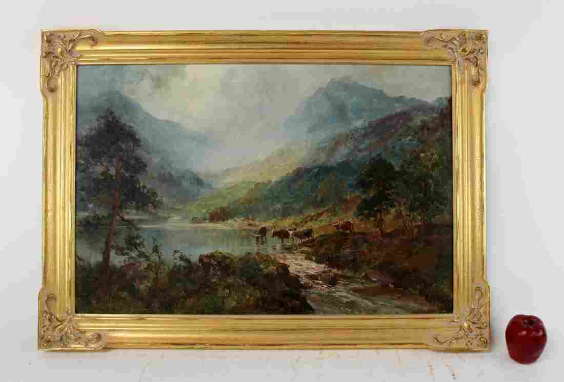 John Falconer Slater oil on canvas landscape painting