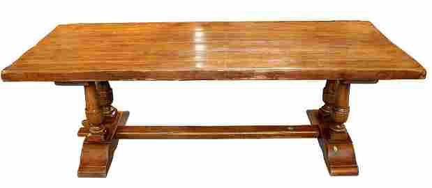 French walnut trestle table