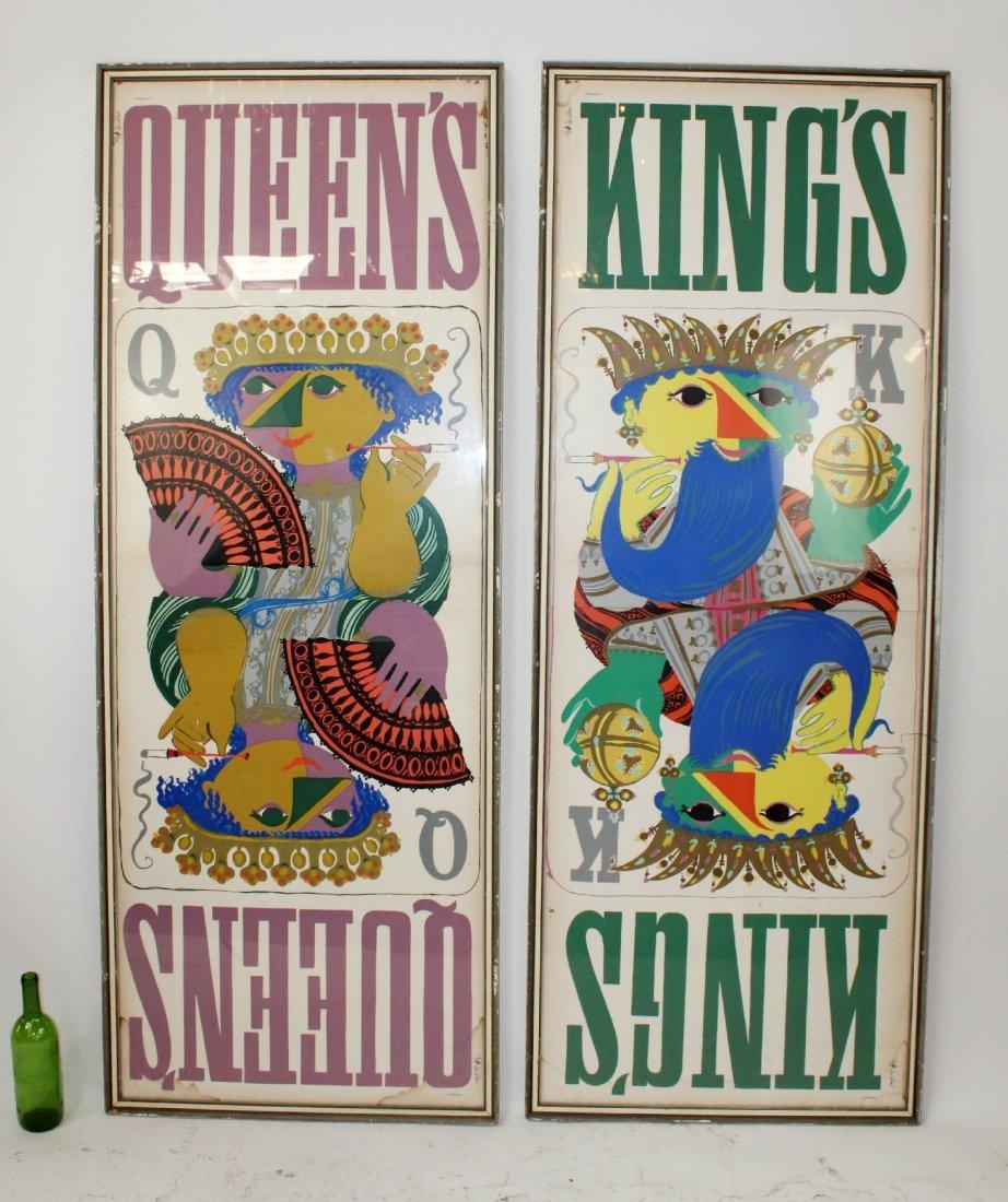 Pair Bjorn Wiinblad King and Queen posters