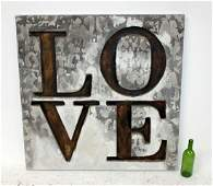 LOVE mixed media on canvas