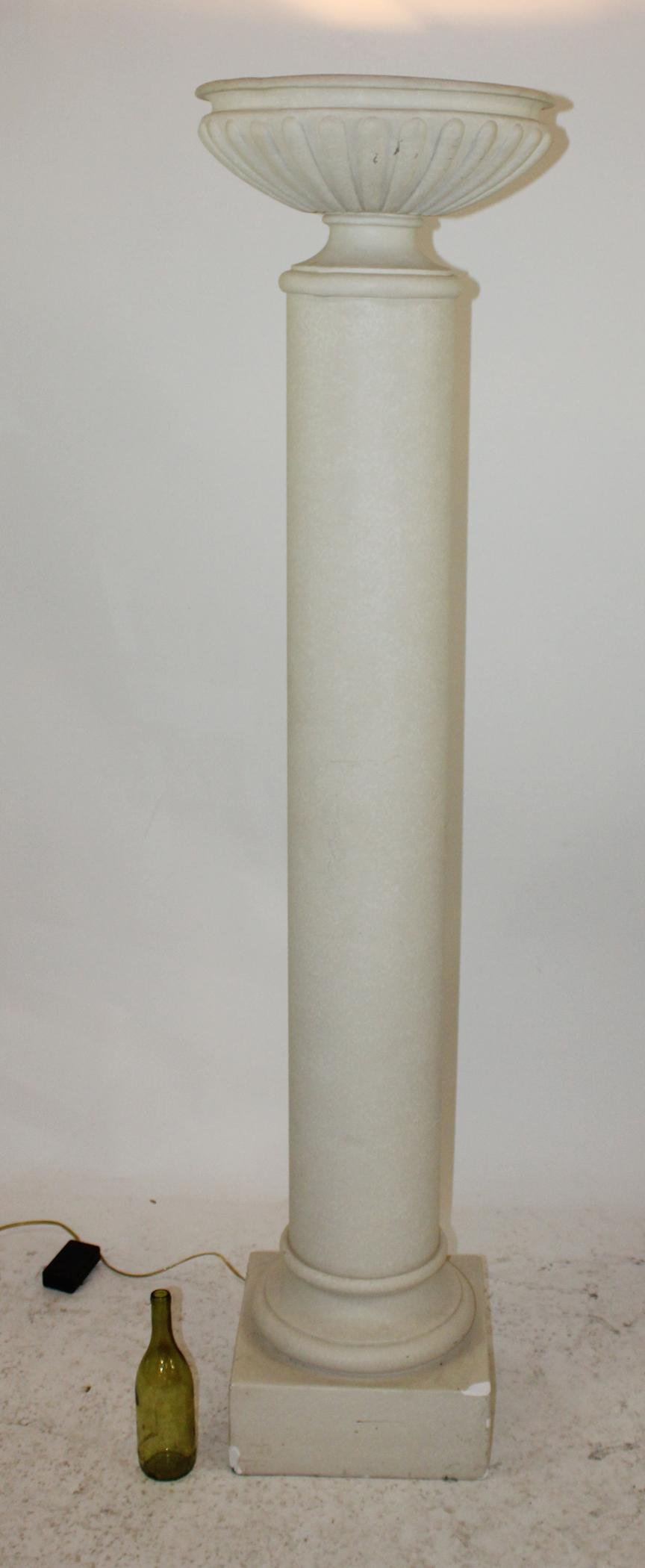 Cast column form torchere floor lamp