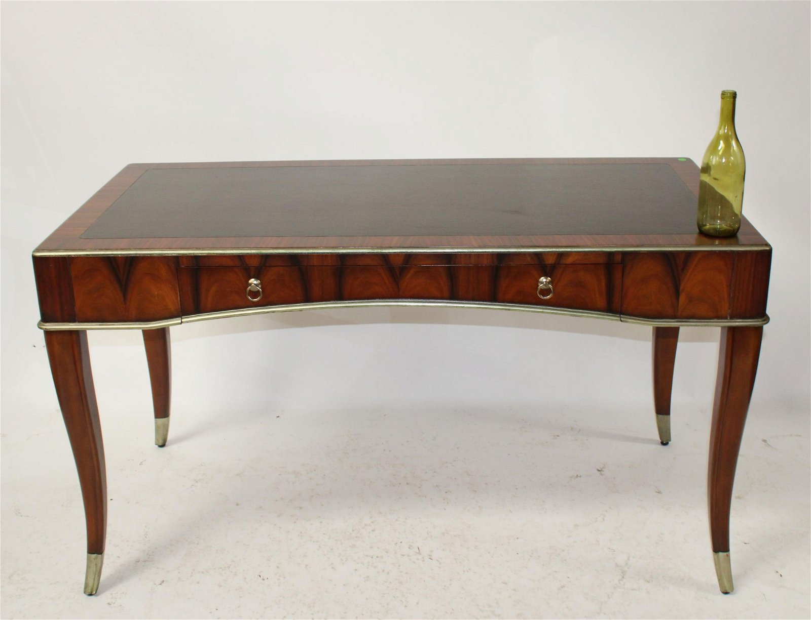 Modern leather top bureauplat desk