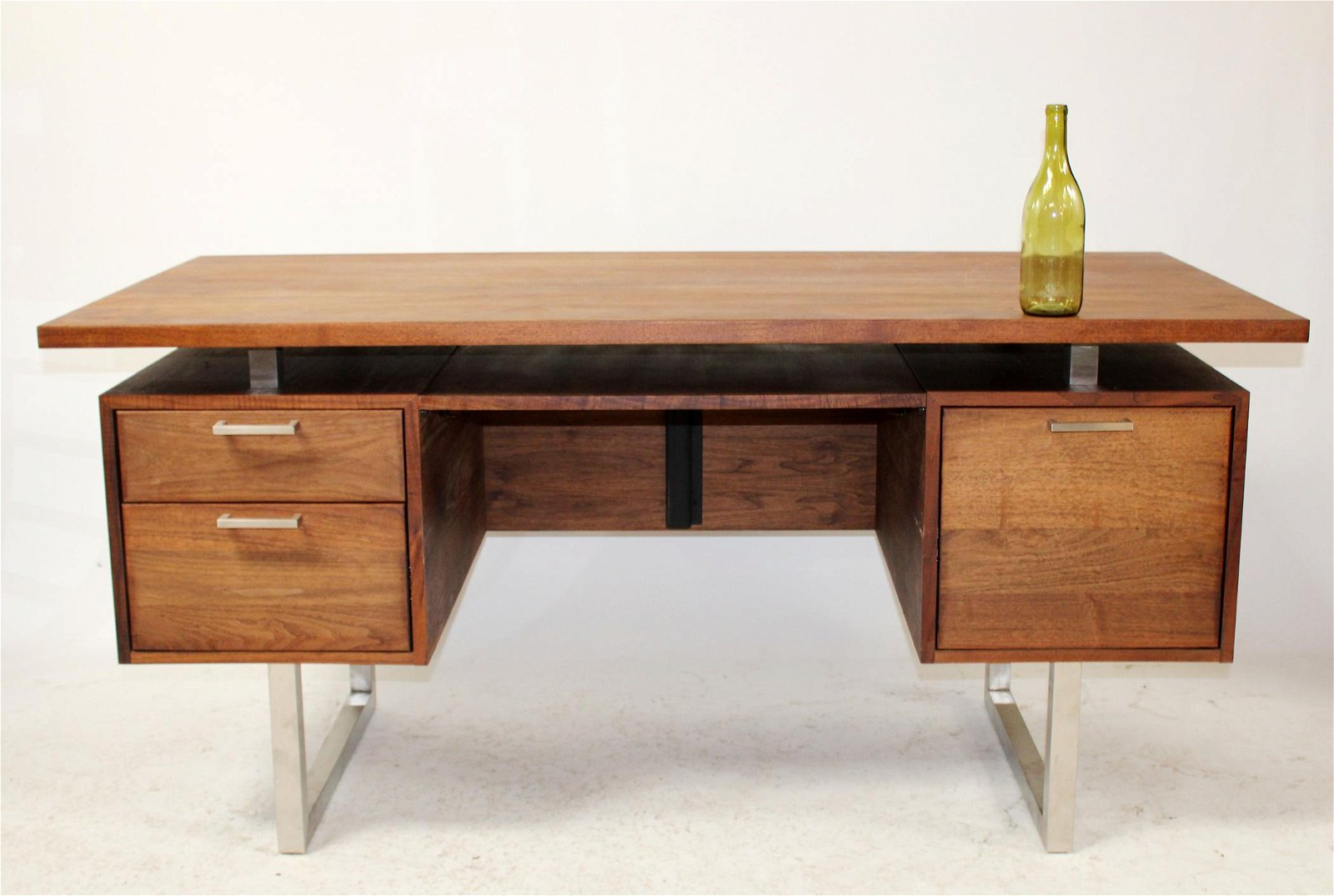 Mid century Modern teak and chrome desk