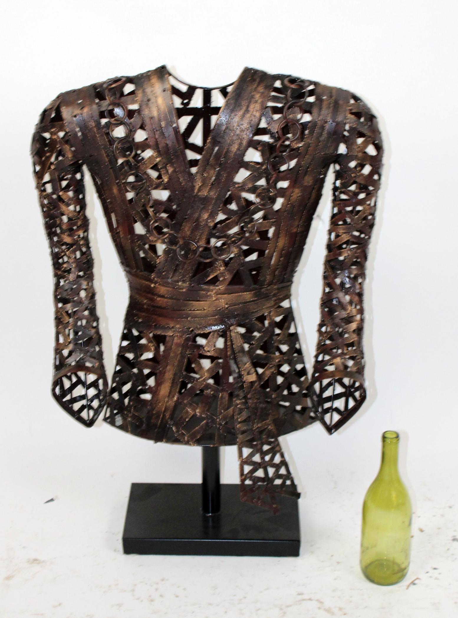 John Richard metal sculpture of a robe