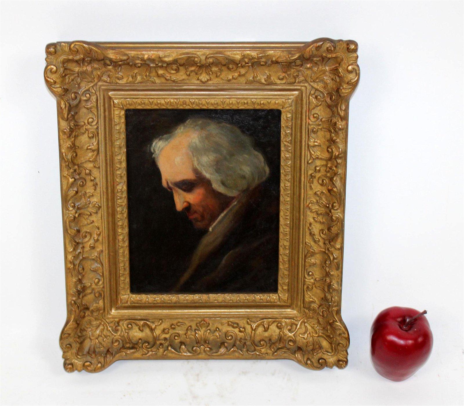 Oil on board  painting Portrait of Gentleman