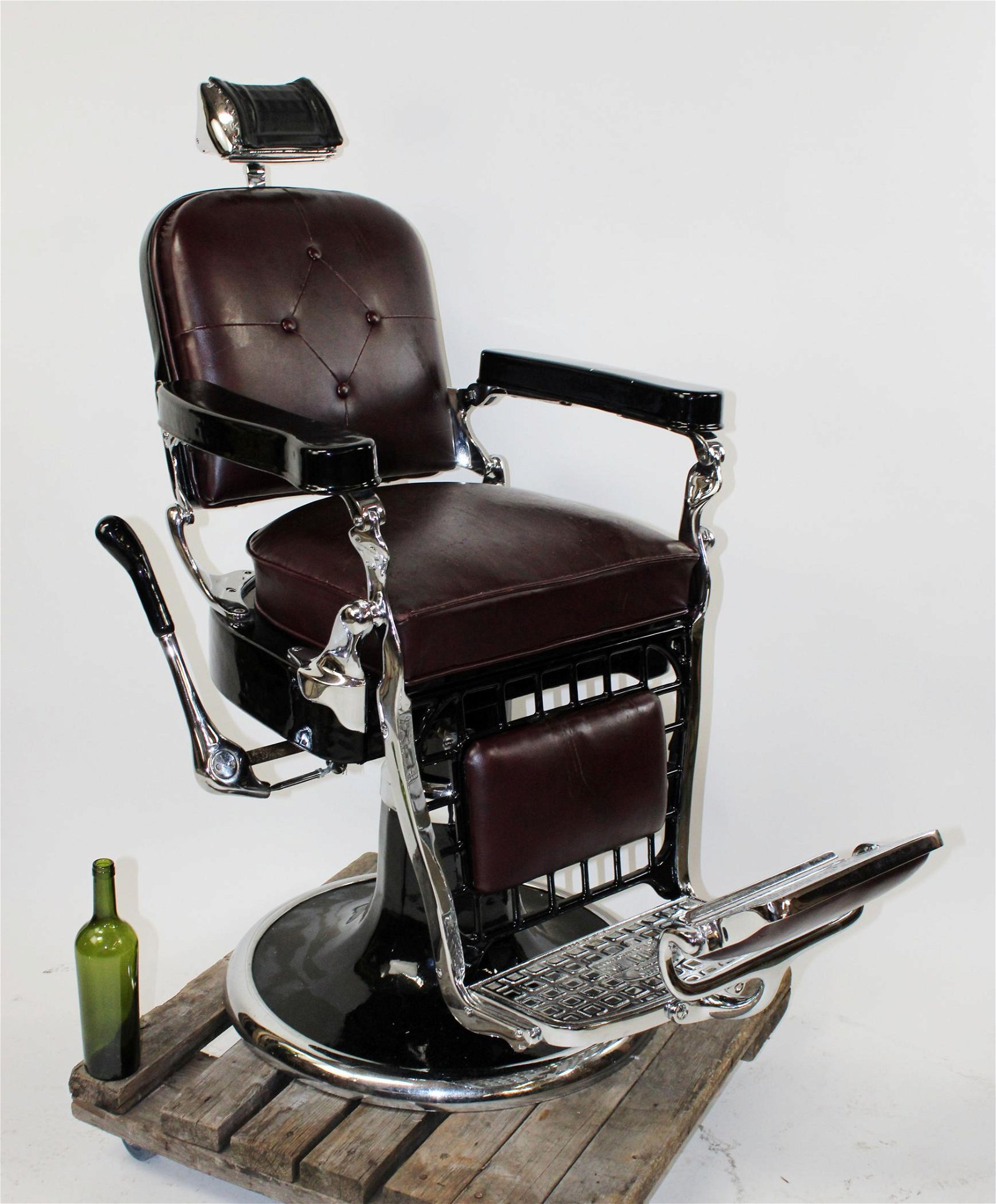 Emil J Paidar Chicago barber chair with headrest