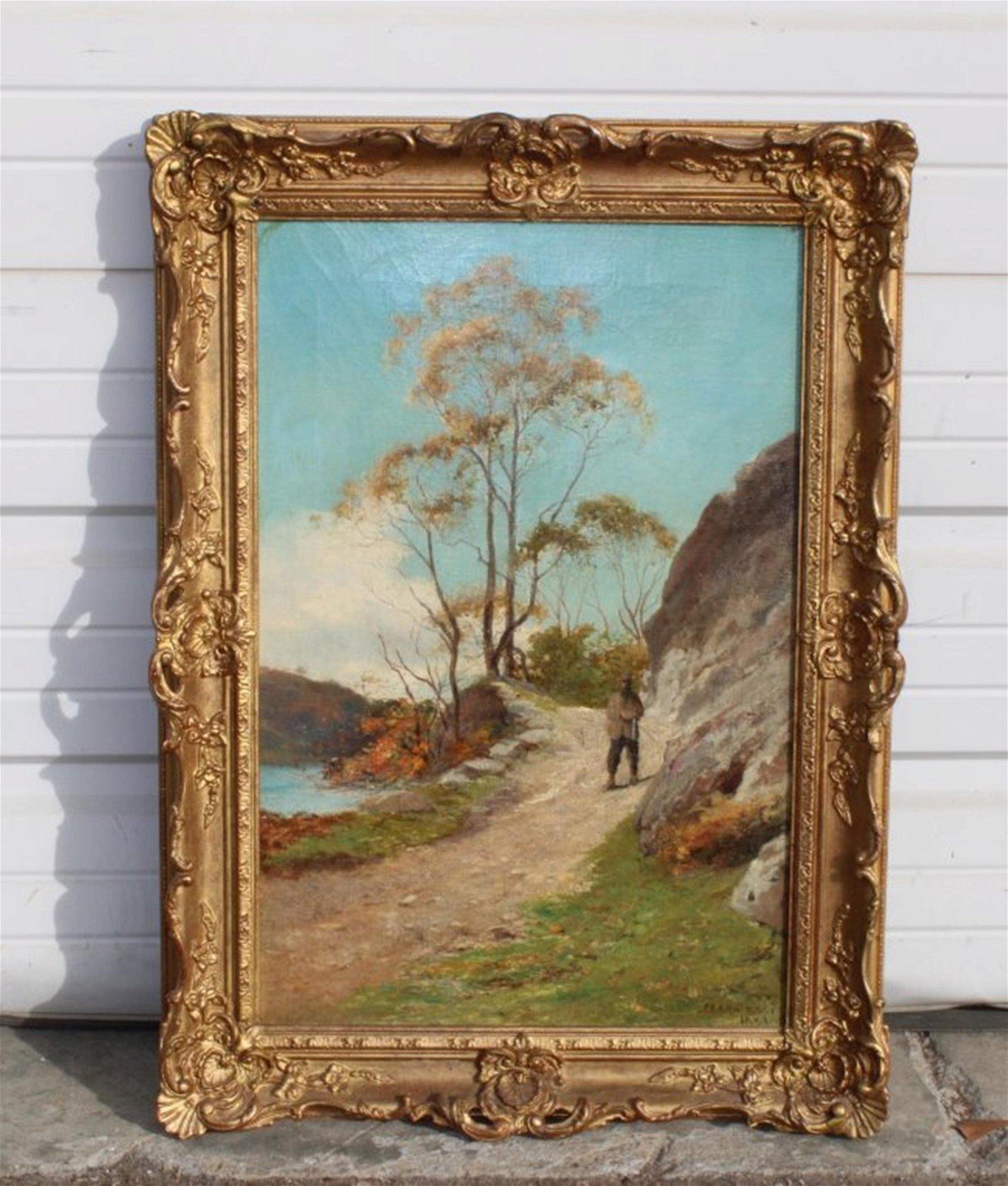 JA Aitken oil on canvas landscape
