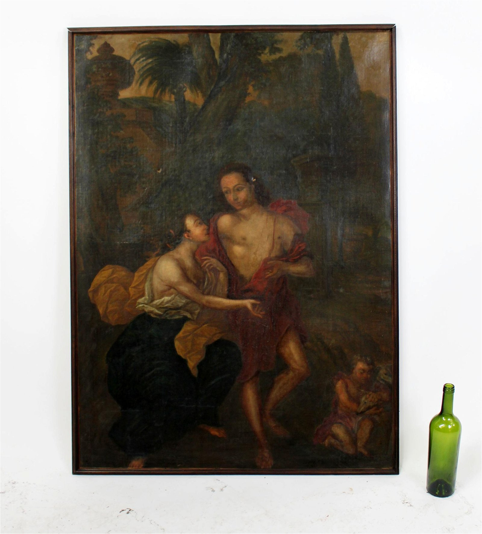 Flemish allegorical oil on canvas painting