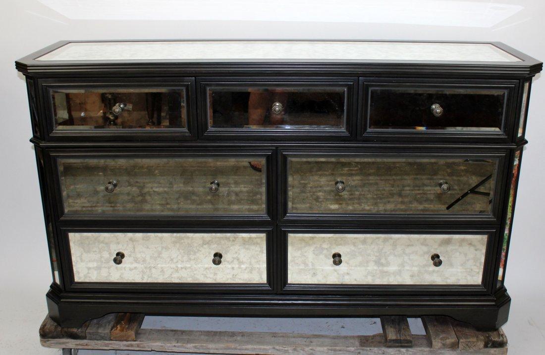 Contemporary  mirrored 7 drawer dresser