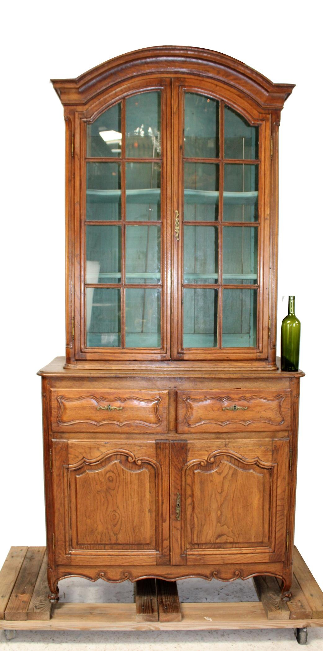 French Provincial arched top bookcase