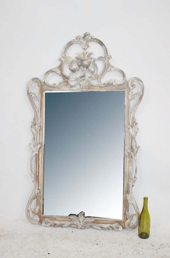 Italian Rococo carved and painted mirror