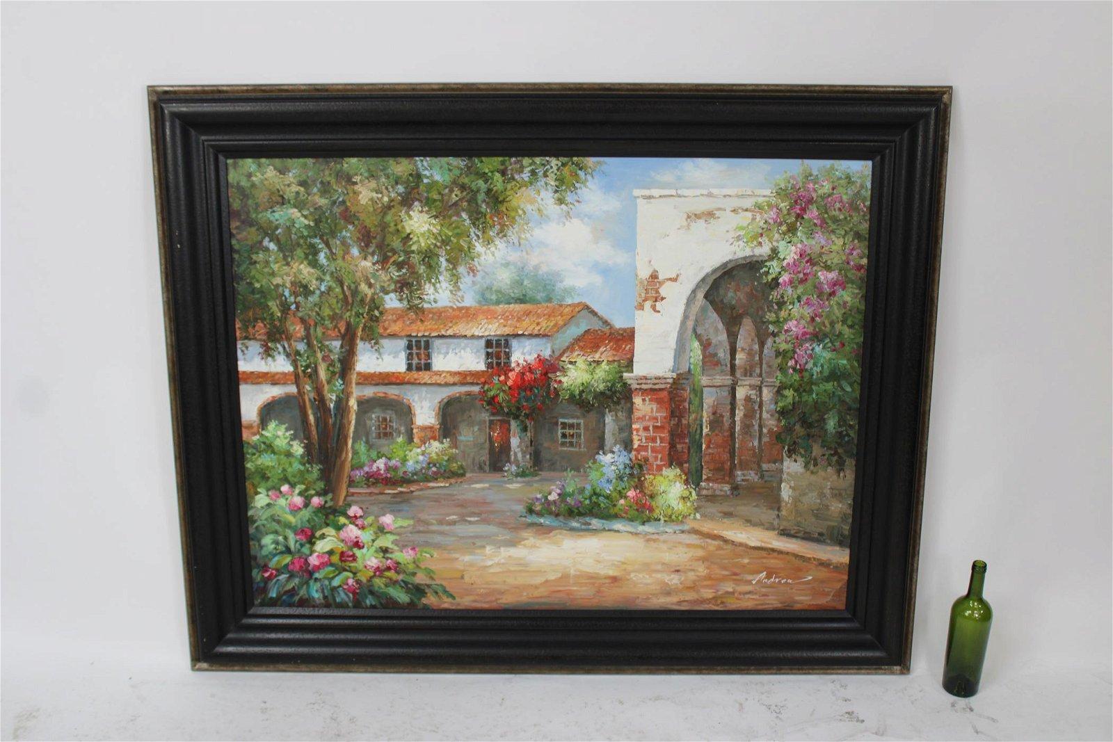 """Oil on canvas """"La Casita"""""""