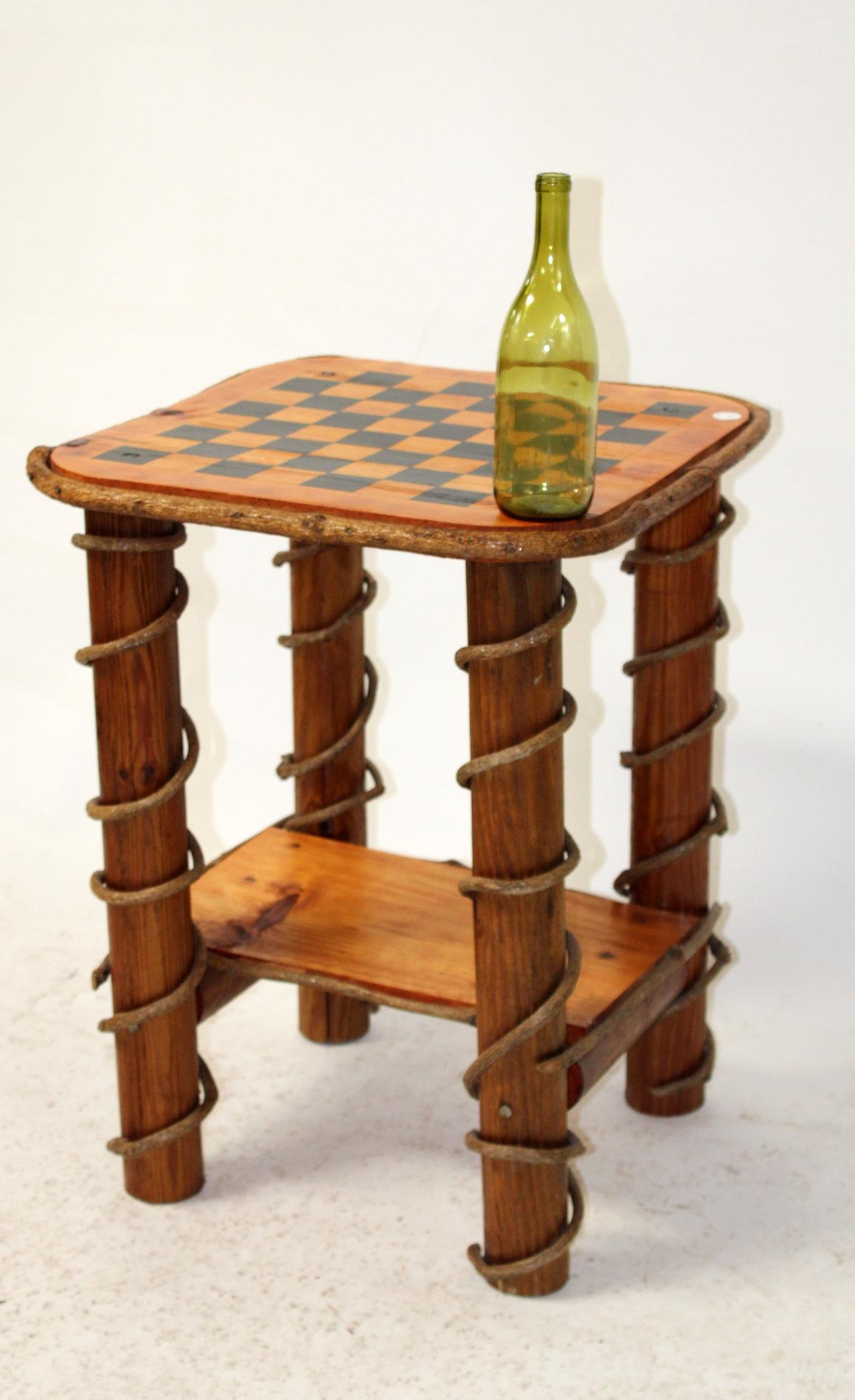 Log cabin style game table