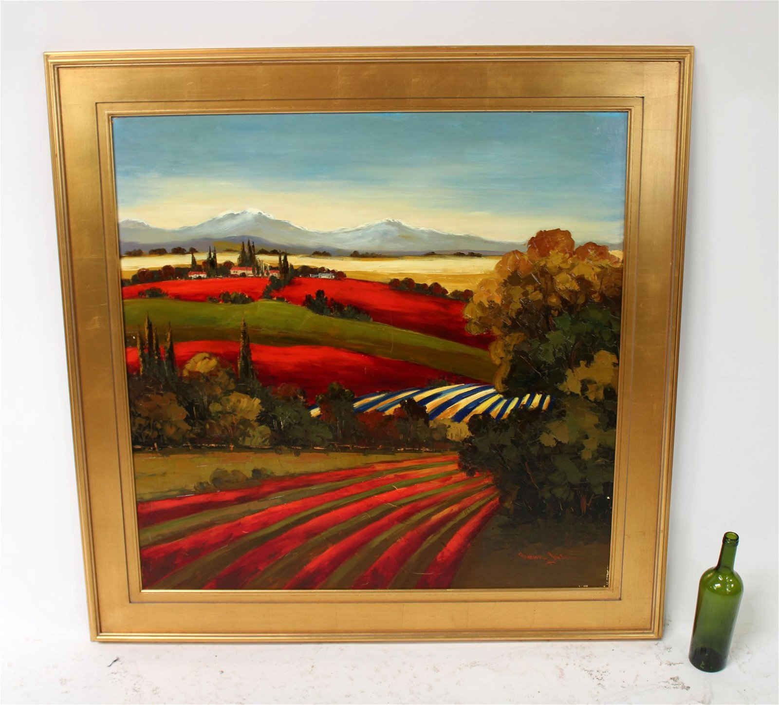 Oil on canvas Tuscan landscape