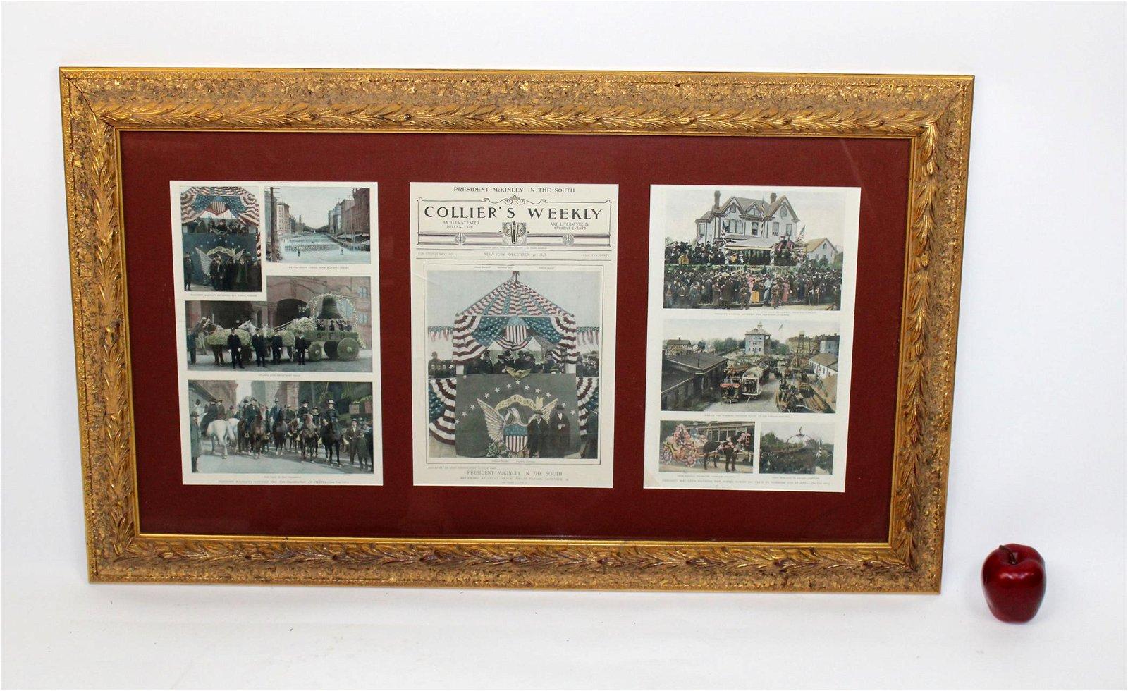 """Colliers Weekly"" framed newspaper print"