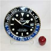 Rolex dealer wall clock GMT Master II