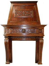 French Renaissance Revival fireplace mantel