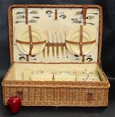Abercrombie & Fitch wicker picnic basket