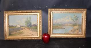 Pair of vintage Landscape  paintings