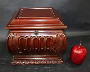 Carved mahogany box
