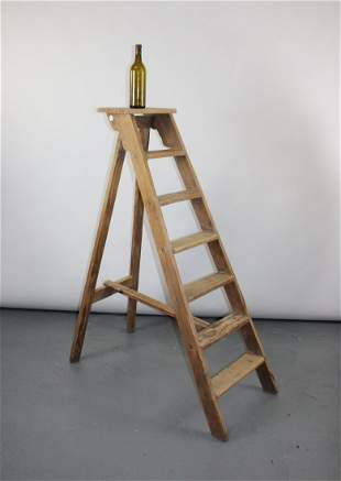 French pine library ladder