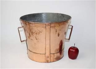 French copper wine measure