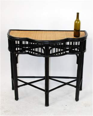 Palecek bamboo and rattan console table