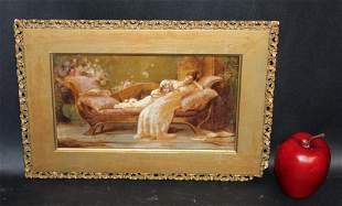 Maude Goodman (English, 1860-1938) oil on canvas