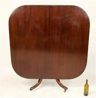 English Regency style mahogany tilt top table