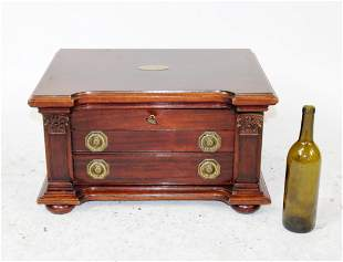 English lock side jewelry or silver chest