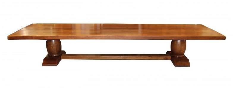 14ft8in Grand French trestle table in oak