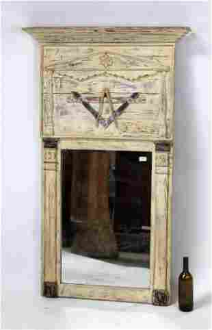 Rare French 19th century Masonic trumeau mirror