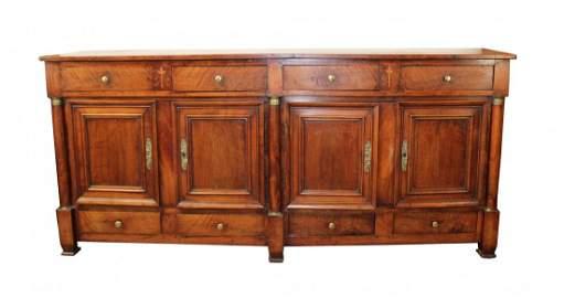 French Directoire 4 door sideboard