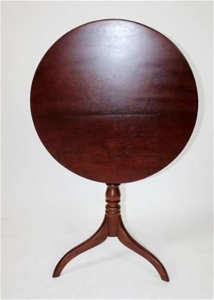 Antique tilt top pedestal base side table