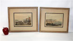 Pair of framed Nautical merchant bookplates
