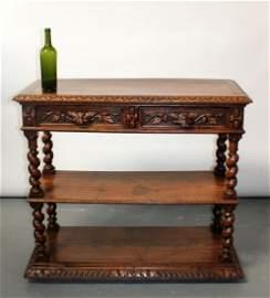 French Louis XIII lift top server in oak